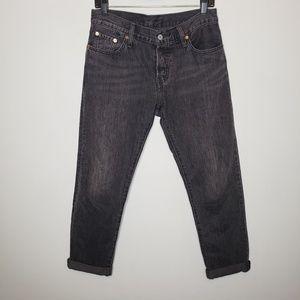 Levi's 501 Boyfriend Black Jeans Size 25